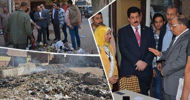 اللواء محمود شعراوى وزير التنمية المحلية خلال جولة مفاجئة فى الخانكة
