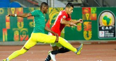 صور.. الشوط الأول.. التعادل السلبي بين منتخب مصر الأوليمبي وجنوب أفريقيا