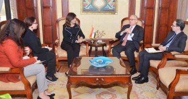 وزيرة الهجرة تلتقى سفير إيطاليا بالقاهرة لبحث التنسيق والتعاون