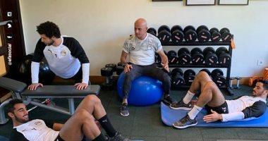 تدريبات استشفائية للاعبى المنتخب الاولمبي استعدادا لكوت ديفوار .. صور