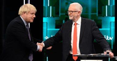 صور.. أول مناظرة بين رئيس الوزراء البريطانى بوريس جونسون وزعيم المعارضة كوربين