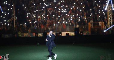 فيديو وصور.. تامر حسنى يُحيى حفل ختام أمم أفريقيا تحت 23 سنة فى مصر