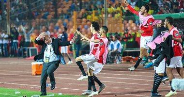 شاهد احتفال المنتخب الأولمبي بهدف كريم العراقى .. كله يجرى كله يفرح