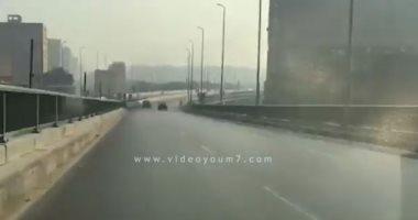 فيديو.. انسياب مرورى أعلى محور صفط اللبن اتجاه جامعة القاهرة