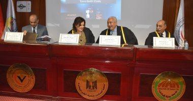 نائبة وزير الزراعة تناقش رسالة دكتوراه بكلية الطب البيطرى بجامعة مدينة السادات