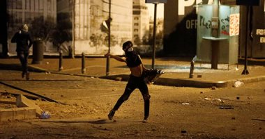 مواجهات بين الأمن اللبنانى وموالين لحزب الله فى شوارع خلفية وسط بيروت