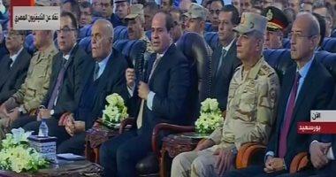 شاهد.. مجدى يعقوب بجوار الرئيس السيسى فى افتتاح مشروعات ببورسعيد وسيناء