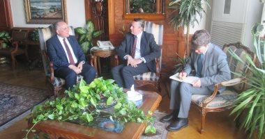 وزير الرى لسفير ألمانيا بالقاهرة: نأمل أن يحدث تقدم ملحوظ فى ملف سد النهضة