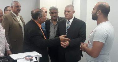 صور ...رئيس مصلحة الجمارك يقوم بزيارة تفقدية لجمارك بورسعيد