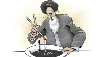 كاريكاتير الصحف الإماراتية.. أزمة النفط الإيرانى