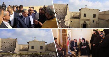 لجنة الآثار تعاين موقع انهيار سور دير ابو فانا.. مصدر: إحالة الواقعة للنيابة