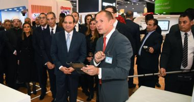 الرئيس السيسى يتفقد معرض القاهرة الدولى للاتصالات وتكنولوجيا المعلومات