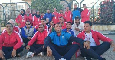 جامعة بنها تحصد 11 ميدالية فى بطولة متحدى الإعاقة بالإسكندرية -