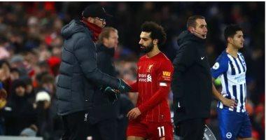 كلوب يدافع عن قرار إراحة محمد صلاح فى مباراة ليفربول وإيفرتون