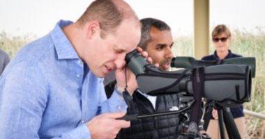 تفاصيل زيارة الأمير وليام دوق كامبريدج لمحمية الجهراء بالكويت.. صور