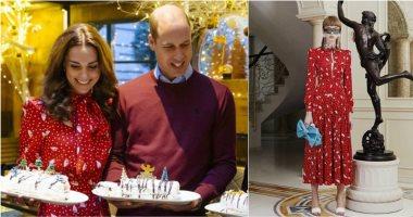 كيت ميدلتون مع الأمير ويليام فى مطبخ مارى بيرى بفستان أحمر أنيق.. صور