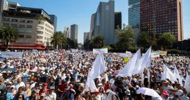 احتجاجات حاشدة فى المكسيك لإدانة جرائم القتل وتفشى حرب العصابات