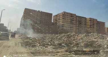 قارئ يشكو من انتشار القمامة ومخلفات القمامة بمدينة قباء فى جسر السويس