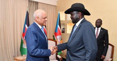 صور.. رئيس جنوب السودان: مصر الشقيقة الكبرى ولا ننسى وقوفها بجوار طلبة بلادنا