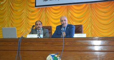 رئيس جامعة الفيوم يستقبل رئيس مكتب الرقابة الإدارية بمحافظة الفيوم
