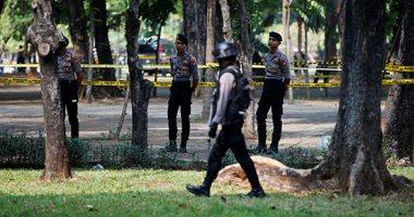 صور.. إصابة مسئولين اثنين فى انفجار قنبلة دخان بمحيط القصر الرئاسى بجاكرتا