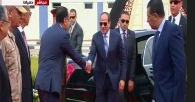 بث مباشر.. الرئيس السيسي يفتتح عددا من المشروعات القومية فى دمياط