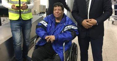 شاهد.. آخر ظهور لشعبان عبد الرحيم فى مطار القاهرة قبل وفاته