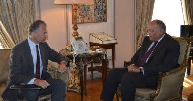 وزير الخارجية يستقبل السفير الأمريكى الجديد بمقر وزارة الخارجية