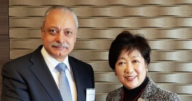 سفير مصر باليابان يلتقى مُحافظ طوكيو ويطَلع على الاستعدادات دورة طوكيو 2020