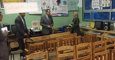 محافظ كفر الشيخ يتفقد عدد من المدارس والوحدات الصحية