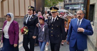 صور.. مديرية أمن الغربية تنظم احتفالية للأطفال ذوى القدرات الخاصة بنادى الشرطة