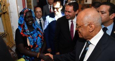 رئيس البرلمان يختتم زيارته لجنوب السودان بزيارة العيادة المصرية بجوبا