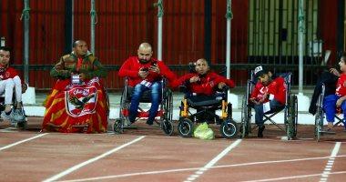ذوي الاحتياجات الخاصة في مباراة الاهلي والهلال السوداني