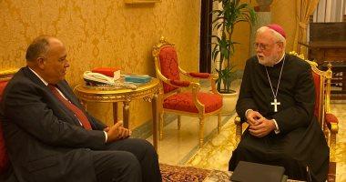 وزير الخارجية يؤكد موقف مصر الثابت تجاه القضية الفلسطينية وحل الدولتين