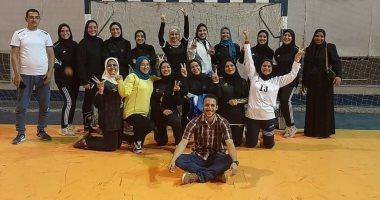 فوز فريق جامعة المنوفية لكرة اليد طالبات على التعليم العالى