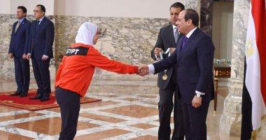 ياسمين الجويلى بطلة الكاراتيه: تكريم الرئيس حافز قوى لحصد مزيد من الألقاب