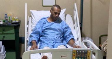 أول صورة لـ علاء الشربينى بعد إجرائه عملية جراحية دقيقة