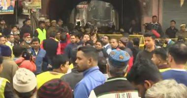 شاهد ..اللقطات الأولى لحريق مصنع فى الهند ومصرع 43 شخصًا