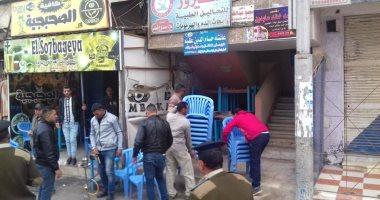 صور.. حملات لإزالة الاشغالات بشوارع مدينة كفر الشيخ