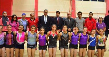 وزيرا الرياضة والآثار يلتقيان منتخب الجمباز ويبحثان إقامة بطولة تحت سفح الهرم