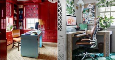 """أفكار مبتكرة لديكور المكتب.. """"خلى الشغل فى البيت متعة"""".. صور"""