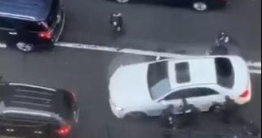 الشرطة الأمريكية تلقى القبض على مشتبه به بموقع إطلاق النار فى نيوجيرسى.. فيديو