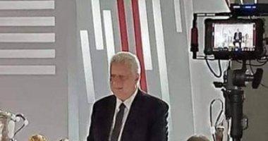 مرتضى منصور ولاعبو الزمالك فى جلسة تصوير برومو قناة الزمالك