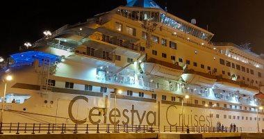 ميناء بورسعيد السياحى يستقبل 1125 سائحا من جنسيات مختلفة