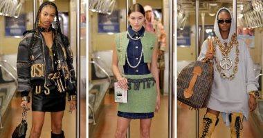 """عرض أزياء موسكينو داخل محطة مترو الأنفاق و""""شنطة كاسيت"""" فى نيويورك"""