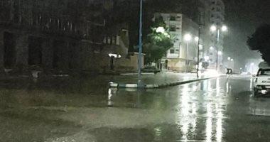 سقوط أمطار على مطروح