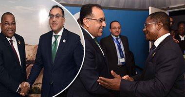 مصطفى مدبولى يلتقى رئيسى وزراء الجابون وغينيا الإستوائية