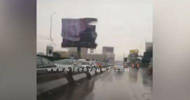 زحام شديد على كوبرى أكتوبر فى اتجاه مدينة نصر.. فيديو