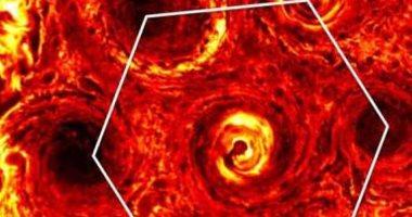 مسبار ناسا يصور عاصفة هائلة بالقرب من القطب الجنوبى لكوكب المشترى