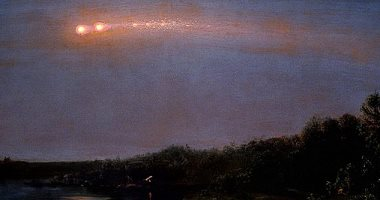 نيزك يقصف الغلاف الجوى للأرض بسرعة ويعود مرة أخرى إلى الفضاء (صور)